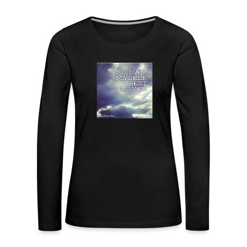 I Am Myself best Lover - Naisten premium pitkähihainen t-paita