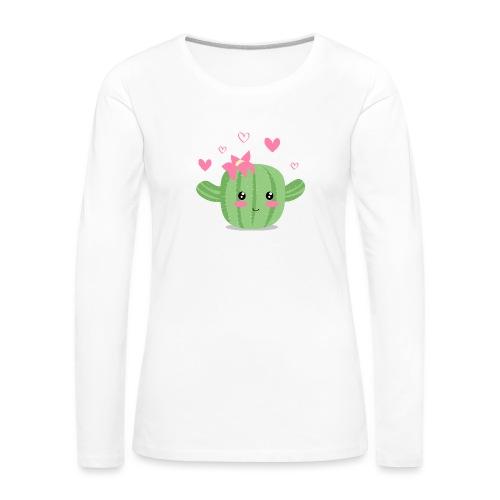 Cactus feliz - Camiseta de manga larga premium mujer