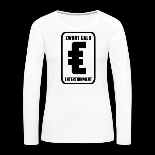 ZwartGeld Logo Sweater - Vrouwen Premium shirt met lange mouwen