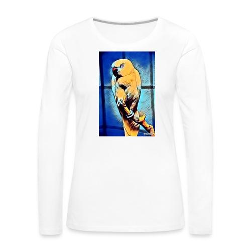 Bird in color - Naisten premium pitkähihainen t-paita