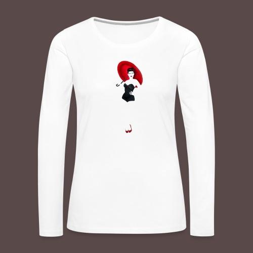 Pin up - Red Umbrella - Maglietta Premium a manica lunga da donna