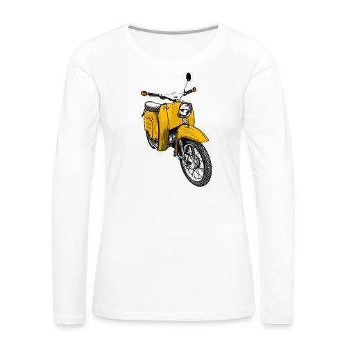 schwalbe gelb - Frauen Premium Langarmshirt