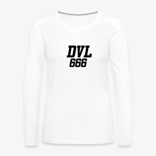 DVL666 - Camiseta de manga larga premium mujer