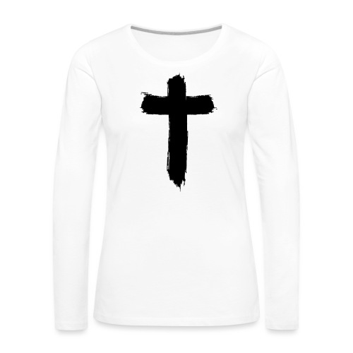 Brushed-Cross - Frauen Premium Langarmshirt