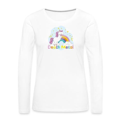 unicorn death metal - Vrouwen Premium shirt met lange mouwen