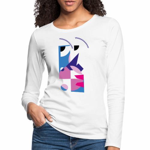 Cubist abstract portrait art - Women's Premium Longsleeve Shirt