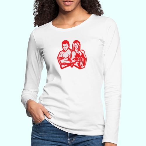 Man & woman NLB - Naisten premium pitkähihainen t-paita