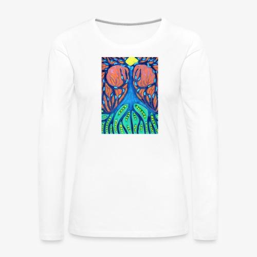 Drapieżne Drzewo - Koszulka damska Premium z długim rękawem