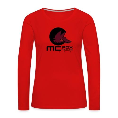 fox - Dame premium T-shirt med lange ærmer