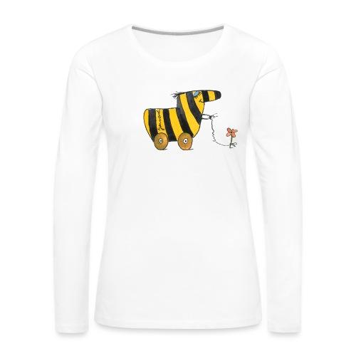 Janoschs Tigerente mit Blume - Frauen Premium Langarmshirt