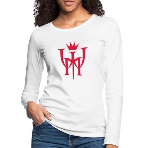 Logo MW Czerwone - Koszulka damska Premium z długim rękawem