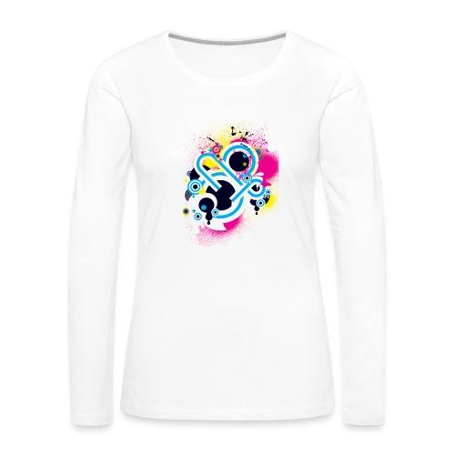 d3scene t shirt design front o by ezacx d3924g1 p - Vrouwen Premium shirt met lange mouwen