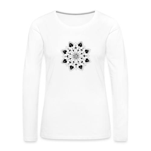 Mandala interior - Camiseta de manga larga premium mujer