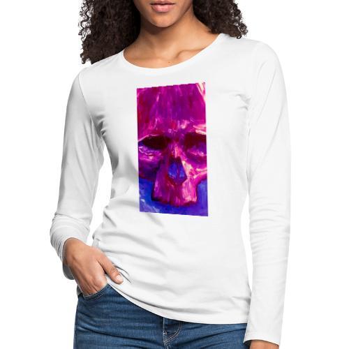 Purple Skull - Vrouwen Premium shirt met lange mouwen