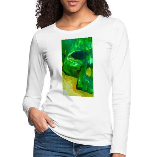 Green Skull #2 - Vrouwen Premium shirt met lange mouwen