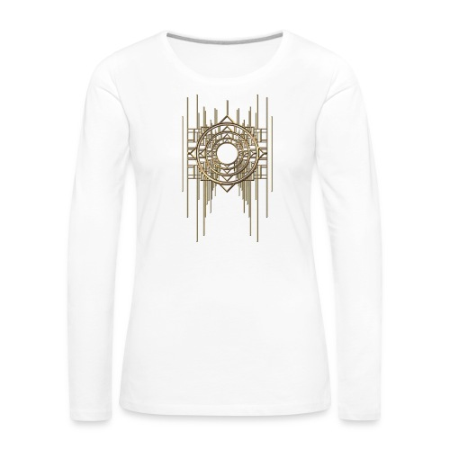 Abstract Geometry Gold Metal Art Deco Vintage - Women's Premium Longsleeve Shirt