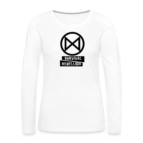Extinction Rebellion - Maglietta Premium a manica lunga da donna