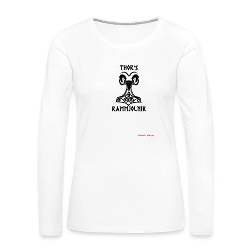 THOR's-RAMMjolnir - T-shirt manches longues Premium Femme
