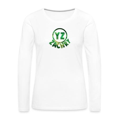 YZ-Button - Vrouwen Premium shirt met lange mouwen