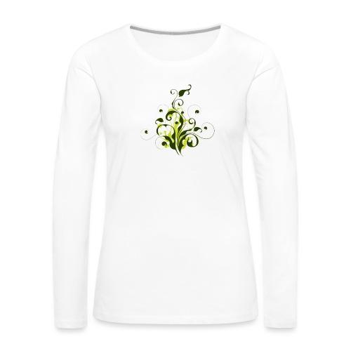 Flora - Camiseta de manga larga premium mujer