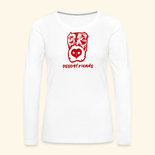 Logo ROSSO TRASPARENTE creative - Maglietta Premium a manica lunga da donna
