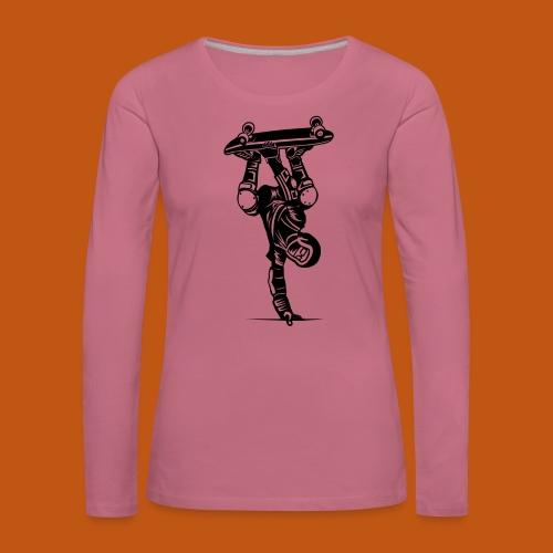 Skater / Skateboarder 02_schwarz - Frauen Premium Langarmshirt