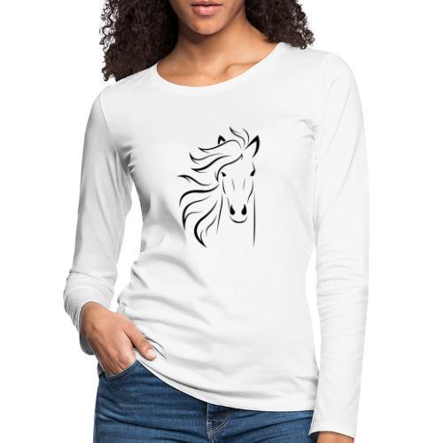 pferd silhouette - Frauen Premium Langarmshirt
