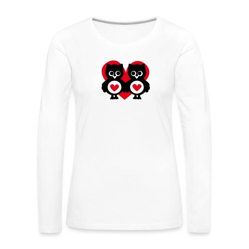 verliebte Eulen - Frauen Premium Langarmshirt