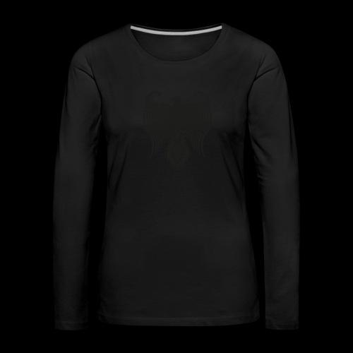 HAUKKA ei tekstia - Naisten premium pitkähihainen t-paita
