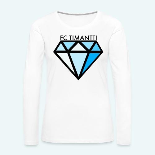 FC Timantti mustateksti - Naisten premium pitkähihainen t-paita