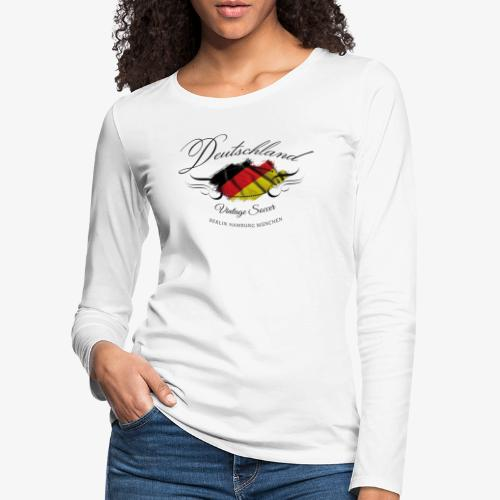 Vintage Deutschland - Frauen Premium Langarmshirt