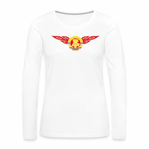 GDR flames crest 3c - Women's Premium Longsleeve Shirt