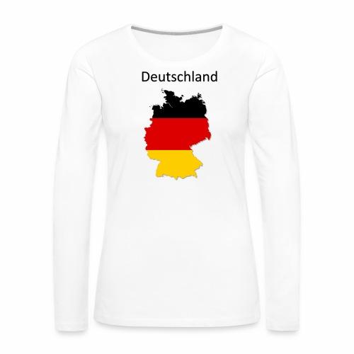 Deutschland Karte - Frauen Premium Langarmshirt