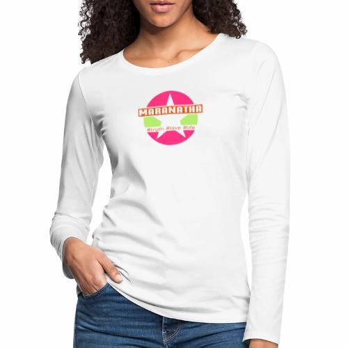 maranatha rosa-grün - Frauen Premium Langarmshirt