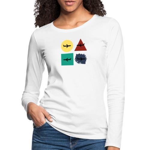 Airlines - Camiseta de manga larga premium mujer