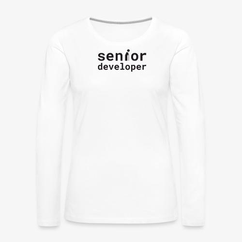 Senior developer | programmer jokes - Women's Premium Longsleeve Shirt
