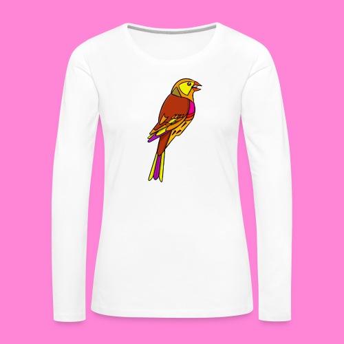 Geelgors illustratie - Vrouwen Premium shirt met lange mouwen
