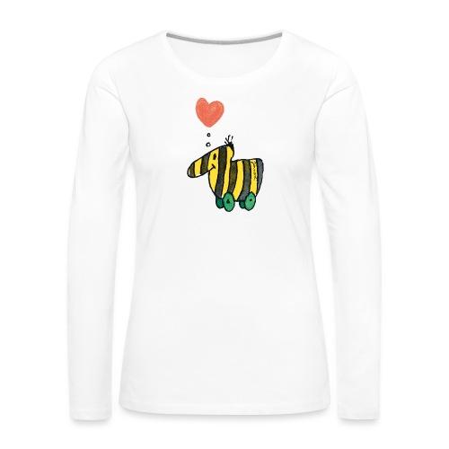 Janoschs Tigerente mit Herz - Frauen Premium Langarmshirt