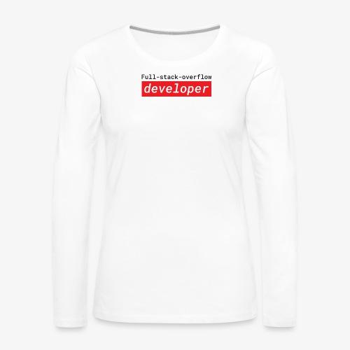 Full stack overflow developer | programmer jokes - Women's Premium Longsleeve Shirt