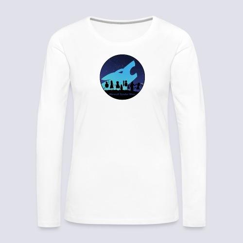 Silhouetten Dorf - Frauen Premium Langarmshirt