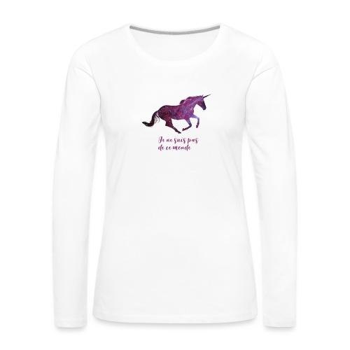 La licorne cosmique - T-shirt manches longues Premium Femme