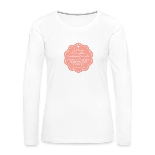 Amour - T-shirt manches longues Premium Femme
