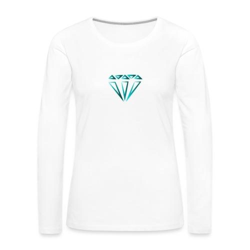 diamante - Maglietta Premium a manica lunga da donna