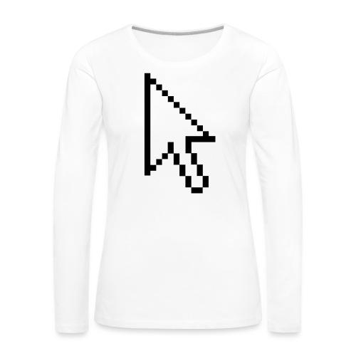 Mouse Arrow - Vrouwen Premium shirt met lange mouwen