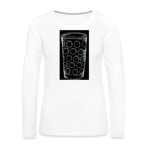 Leergut Dubbeglas -schwarz - Frauen Premium Langarmshirt