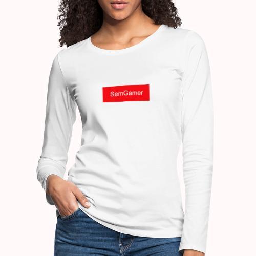 SemGamer in rood vak - Vrouwen Premium shirt met lange mouwen