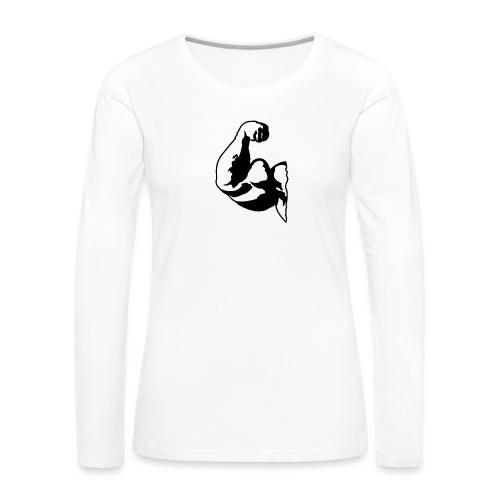 PITT BIG BIZEPS Muskel-Shirt Stay strong! - Frauen Premium Langarmshirt
