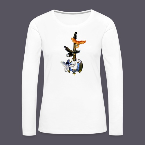fliegende Gitarre - Frauen Premium Langarmshirt