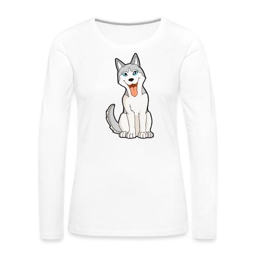 Husky grigio occhi azzurri - Maglietta Premium a manica lunga da donna
