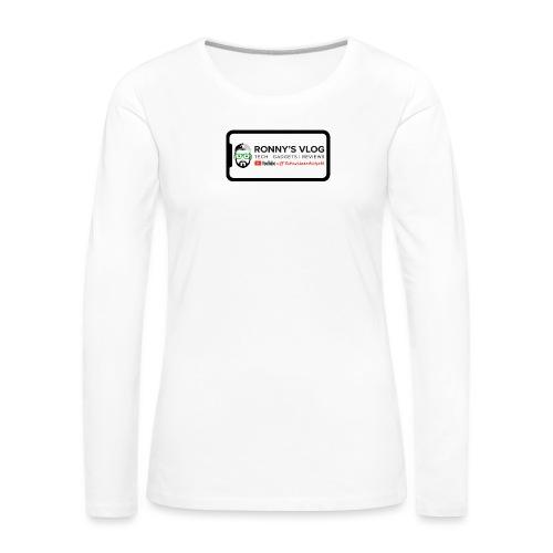 iPhone X by Ronny's Vlog - Frauen Premium Langarmshirt